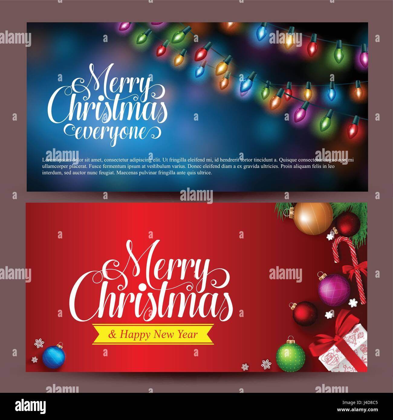 Weihnachtsverkauf Banner Vektor-Design mit Weihnachten Kugeln ...