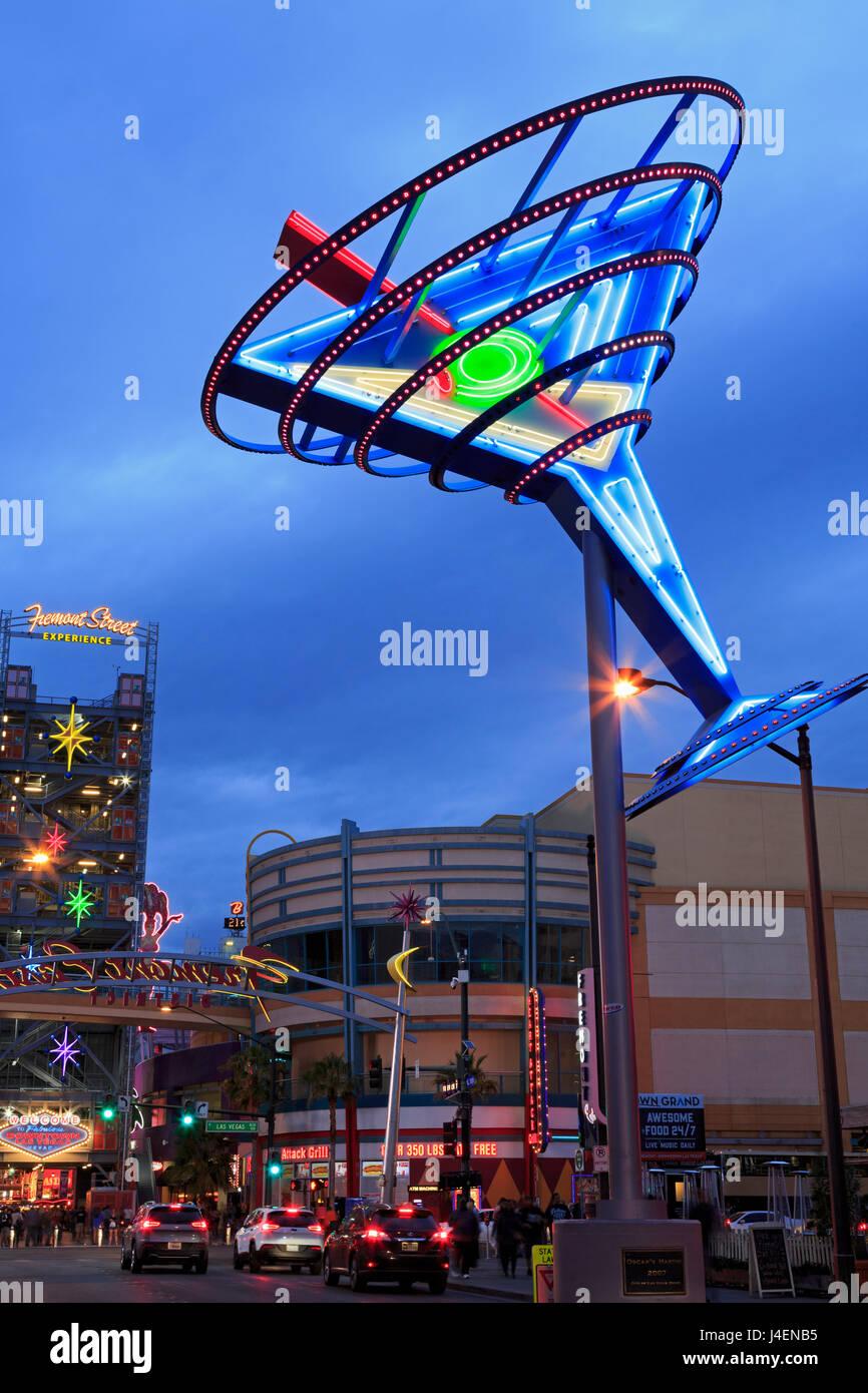 Fremont East District, Las Vegas, Nevada, Vereinigte Staaten von Amerika, Nordamerika Stockbild