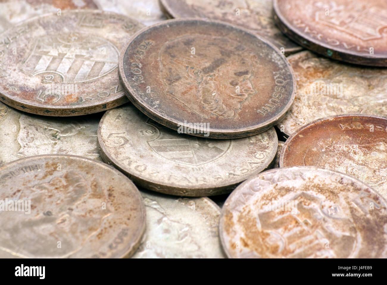 Alte Ungarische Silbermünzen Die Münzen Wurden 1947 Hergestellt