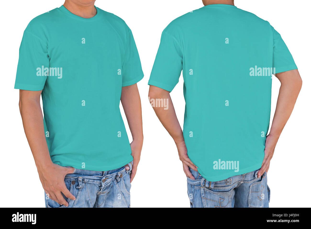 Blank T Shirt Template Front Back Stockfotos & Blank T Shirt ...