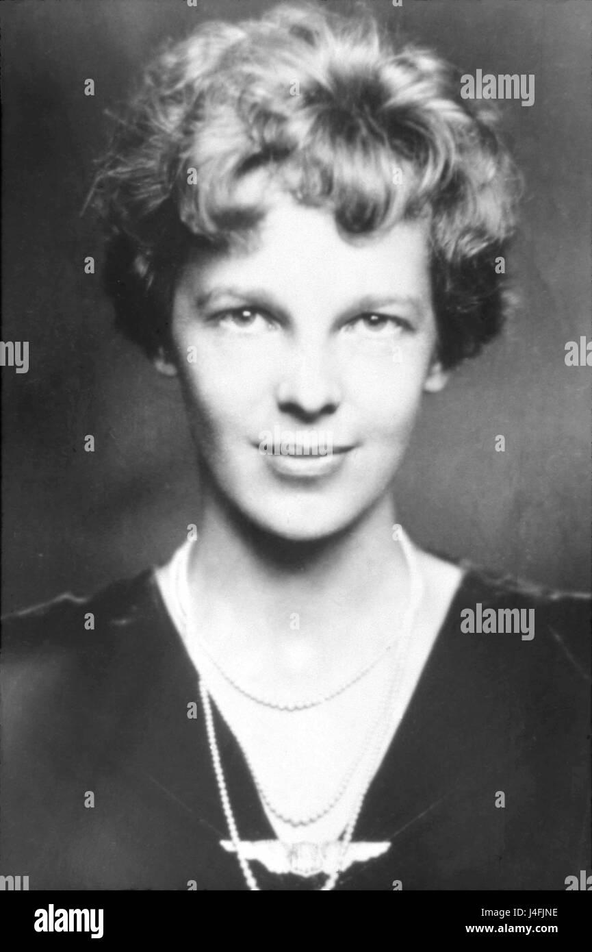Amelia Earhart Stockbild