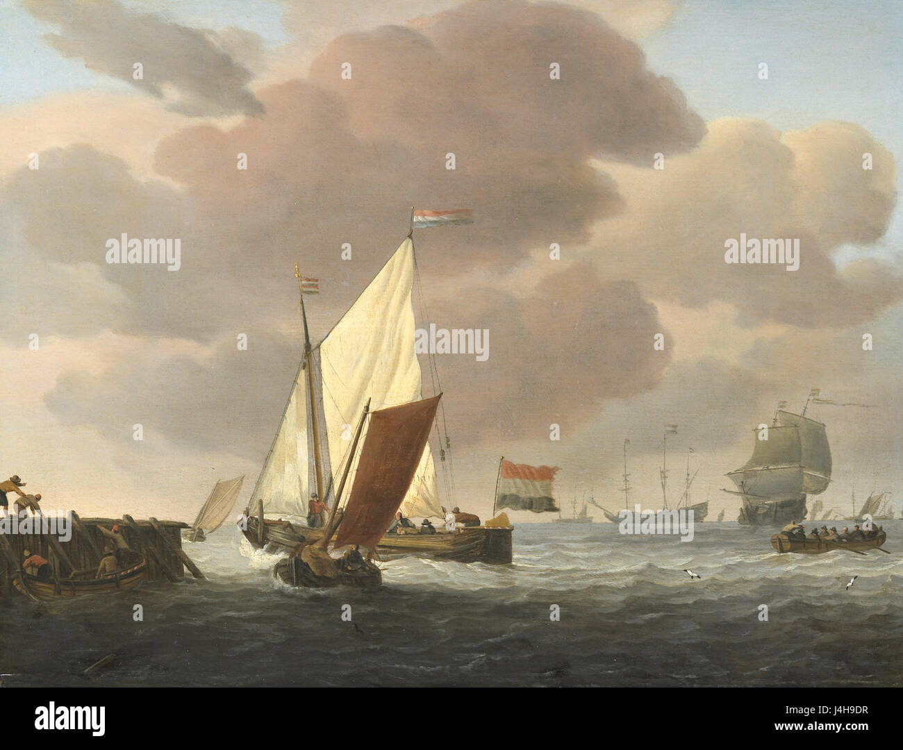 Löwener Voor de Kust Bij Flinke Bries Rijksmuseum SK pro 723 Stockbild