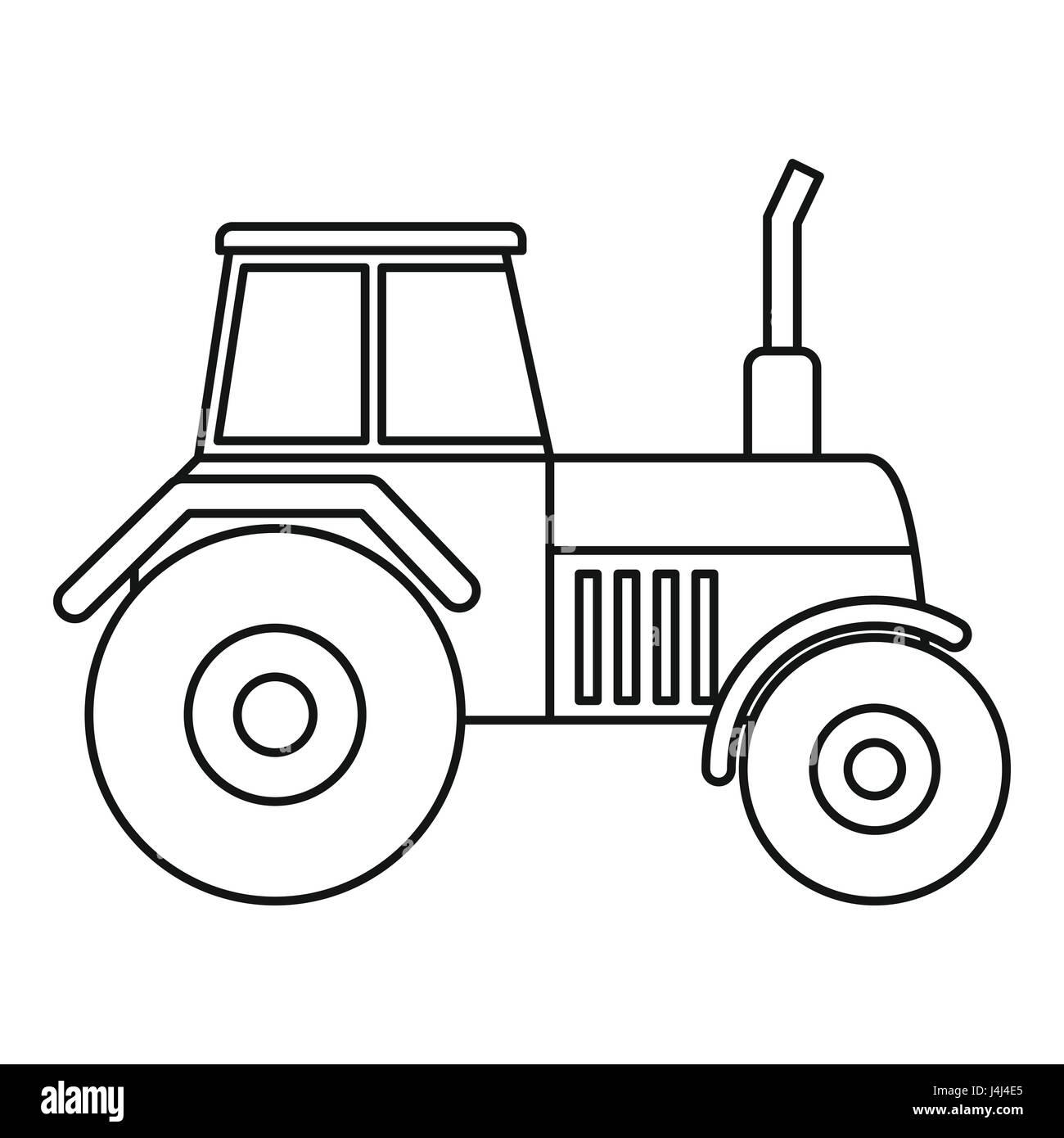 traktorsymbol umrissstil stockvektorgrafik  alamy