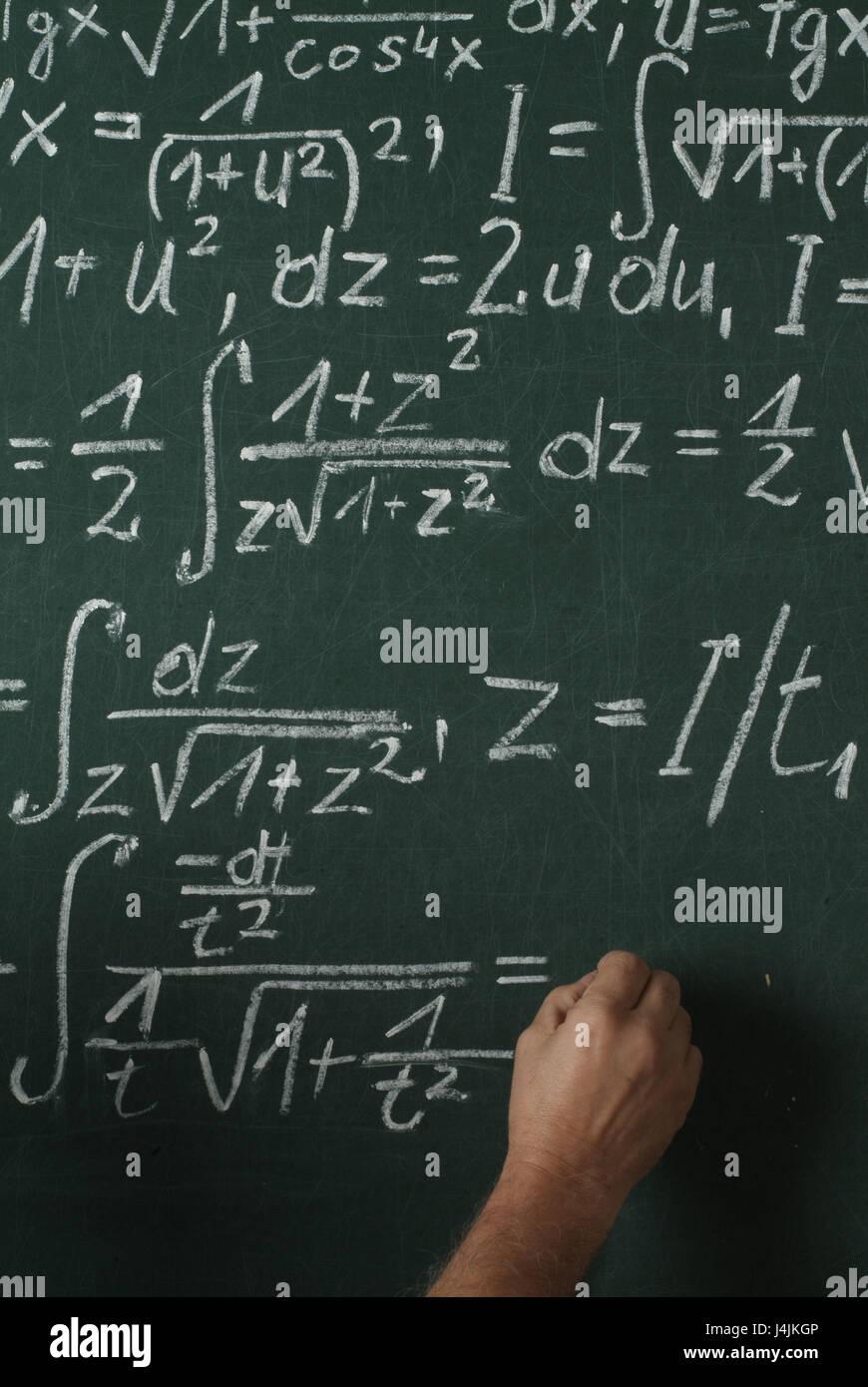 Mathematik Unterricht Schwarze Schulbehörde Hand Integral Kalkül