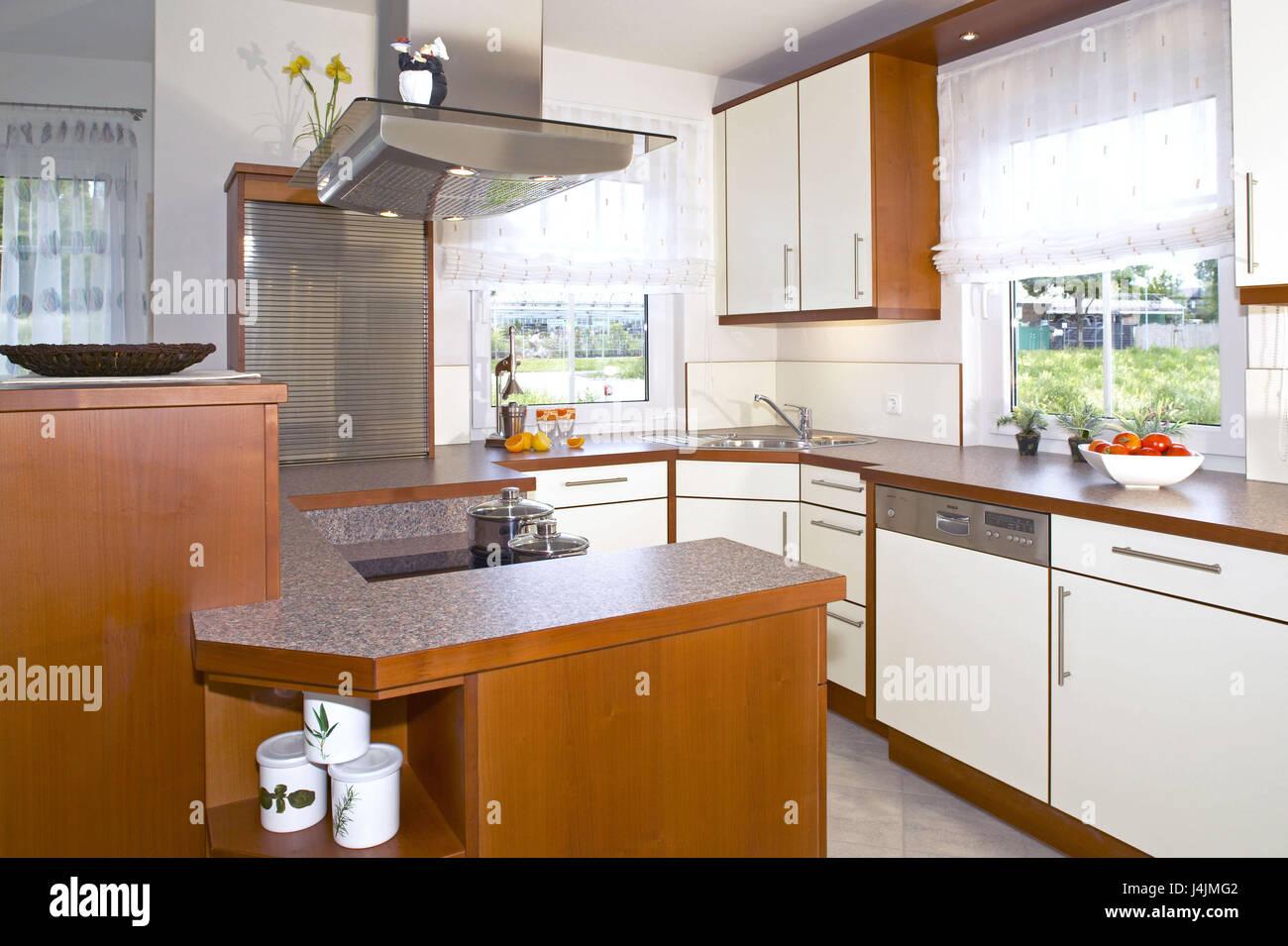 Einfamilienhaus, Wohnung, Leben Platz, Wohnen, Innenraum Erschossen,  Inneneinrichtung, Einrichtung, Modern, Küche Ausgestattet, Küche,  Wohn Design, ...