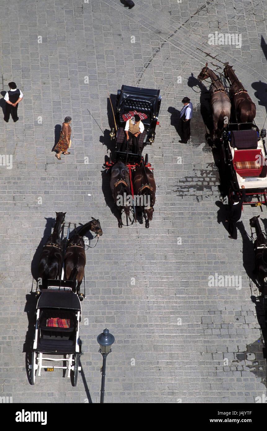 Österreich, Wien, Taxi, Übersicht Europa, Bundeshauptstadt, Hauptstadt, Square, Kutschen, die Pferdekutschen, Stockbild