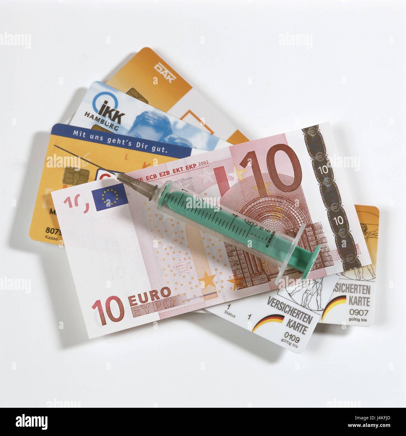 Gesundheitsreform Praxis Gebuhr 10 Euro Geldschein Spritze