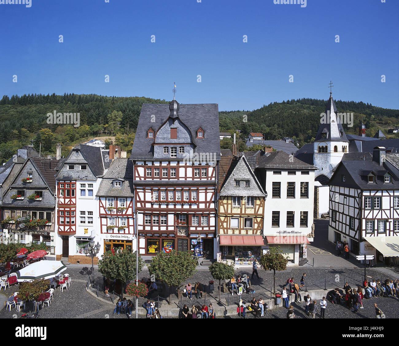deutschland rheinland pfalz eifel adenau markt tourist von oben europa hocheifel. Black Bedroom Furniture Sets. Home Design Ideas