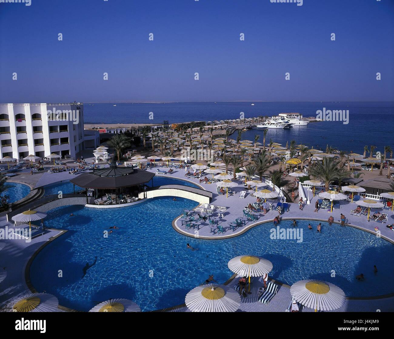 Agypten Hurghada Hotel Anlage Schwimmbad Strand Vor Ubersicht