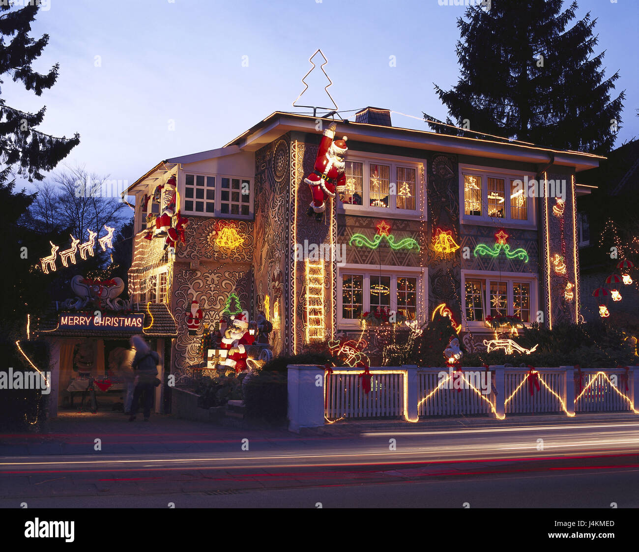 deutschland hamburg dorf nien christmas house beleuchtung d mmerung europa. Black Bedroom Furniture Sets. Home Design Ideas
