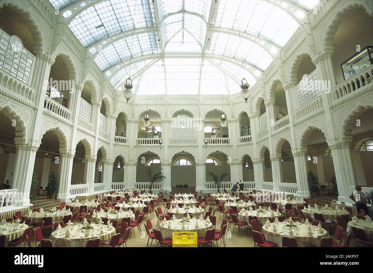 Ungarn, Budapest, Gellert Hotel, Esszimmer, Glasdach, gewölbt ...