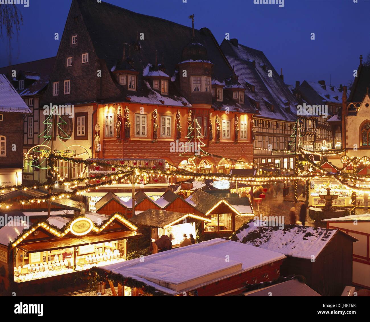christmas market goslar germany stockfotos christmas market goslar germany bilder alamy. Black Bedroom Furniture Sets. Home Design Ideas