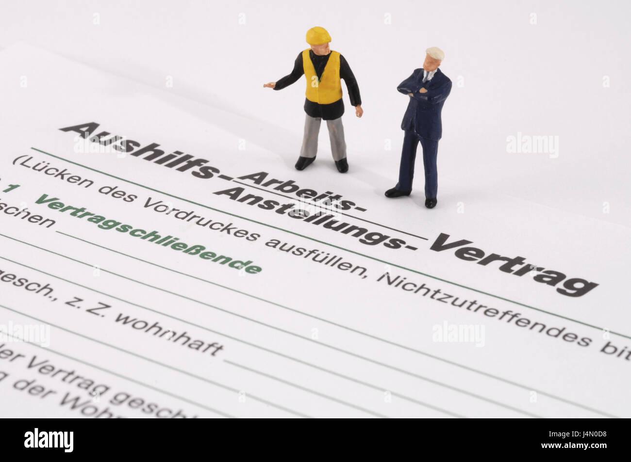 Form Arbeitsvertrag Zeichen Arbeiter Icon Arbeit Zertifikat