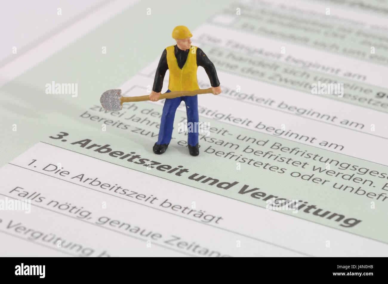 Form Arbeitsvertrag Charakter Arbeiter Symbol Arbeitszeiten