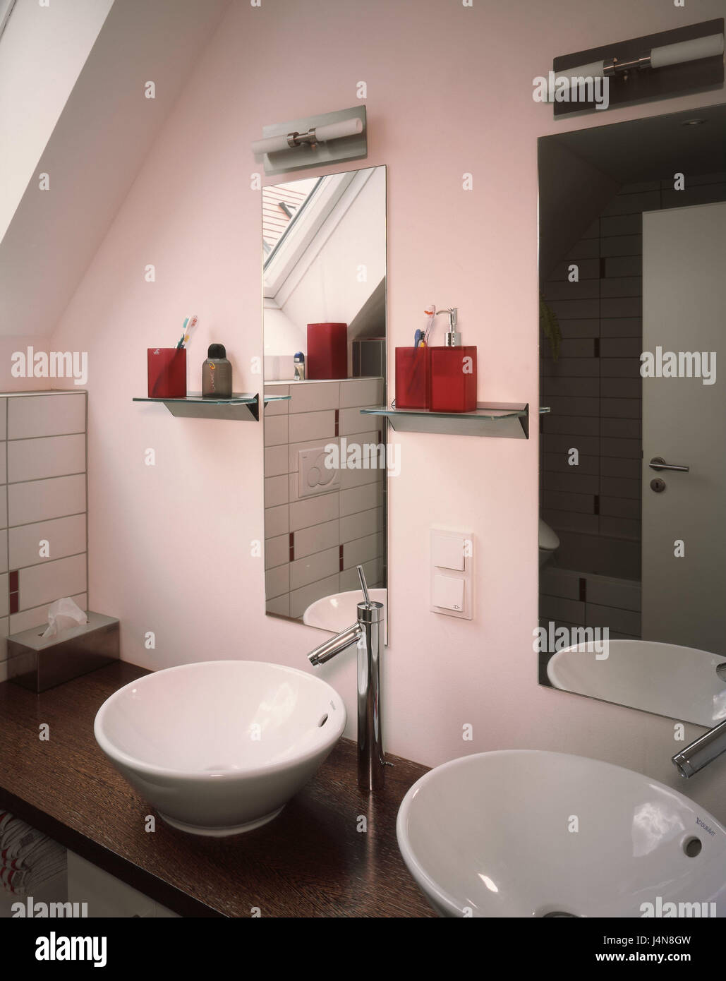 Innenaufnahme Detail Waschbecken Badezimmer Bad Innen