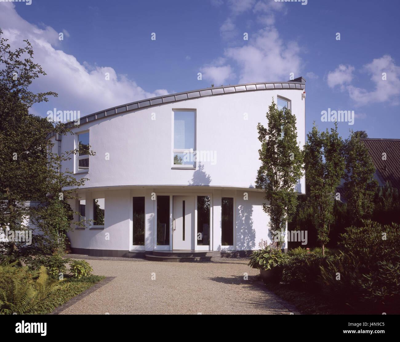 Einfamilienhaus, moderne, Eingangs-Bereich, Wohnhaus, Haus, Gebäude ...