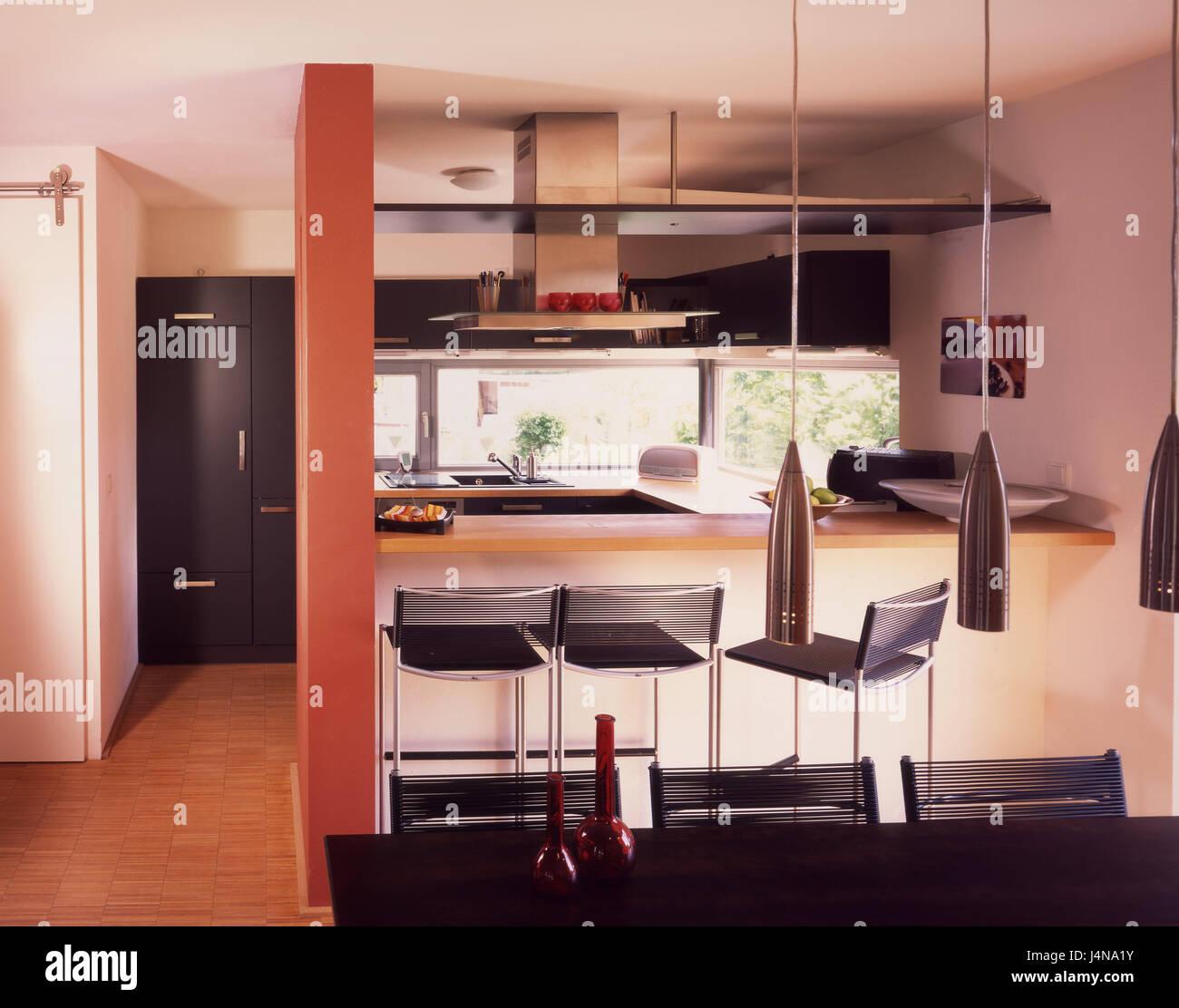 Es Integriert Innen Geschossen Kuche Esstisch Wohnung Wohnen