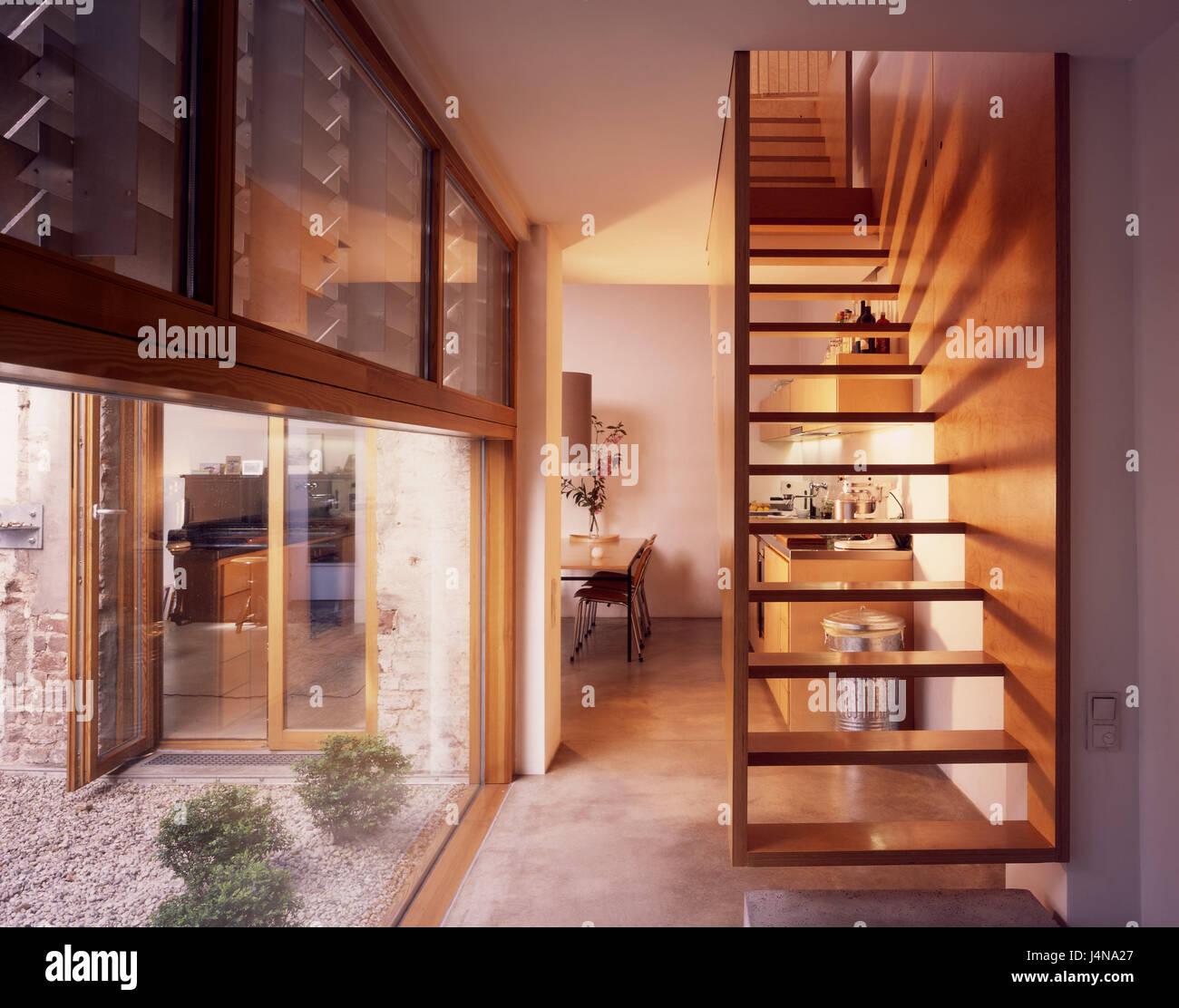 Fenster Essen innen gedreht küche offen lebenden viertel fenster treppen