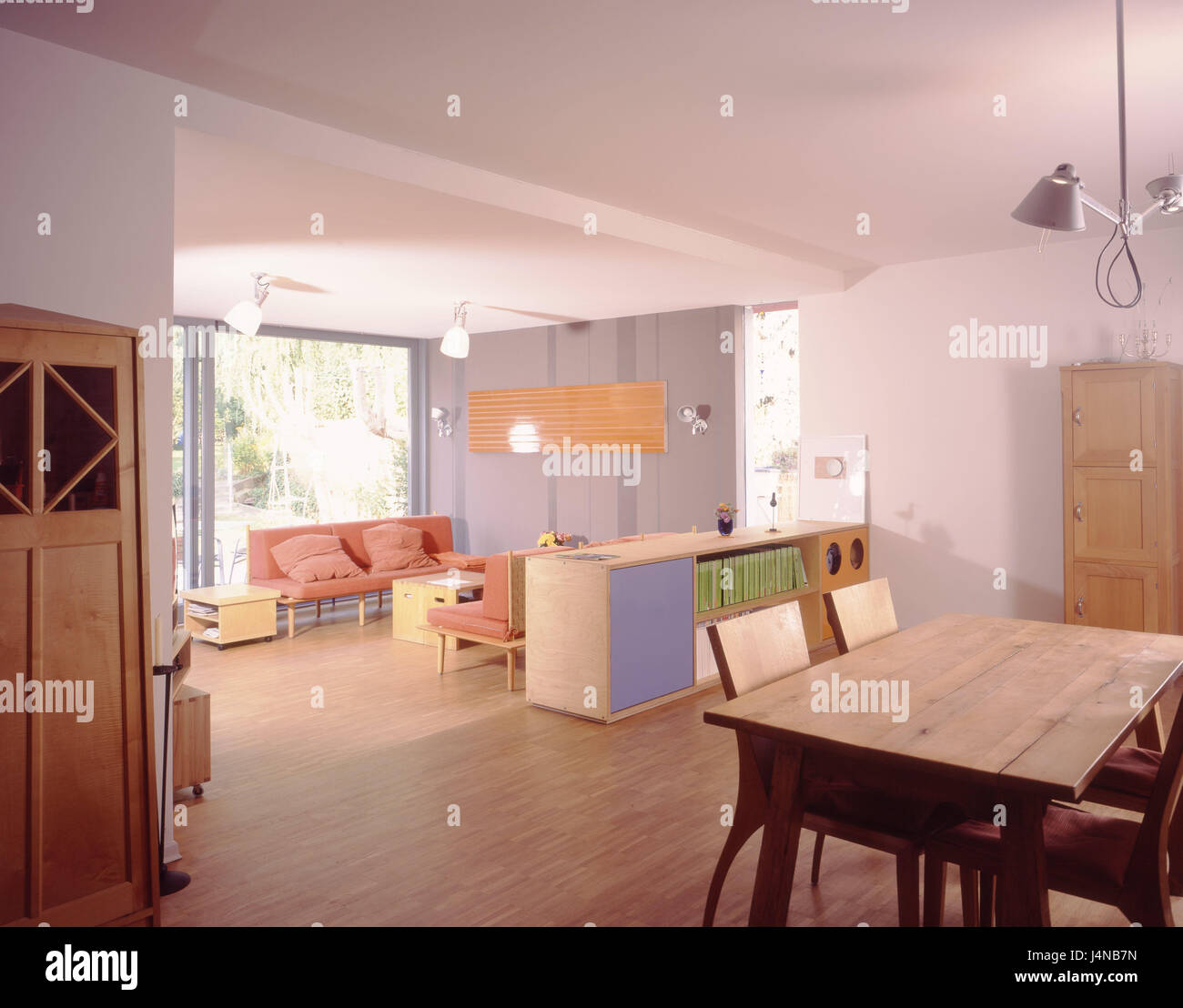 Lebendigen Platz, Inneneinrichtung, modernen, Wohnzimmer, lebenden ...