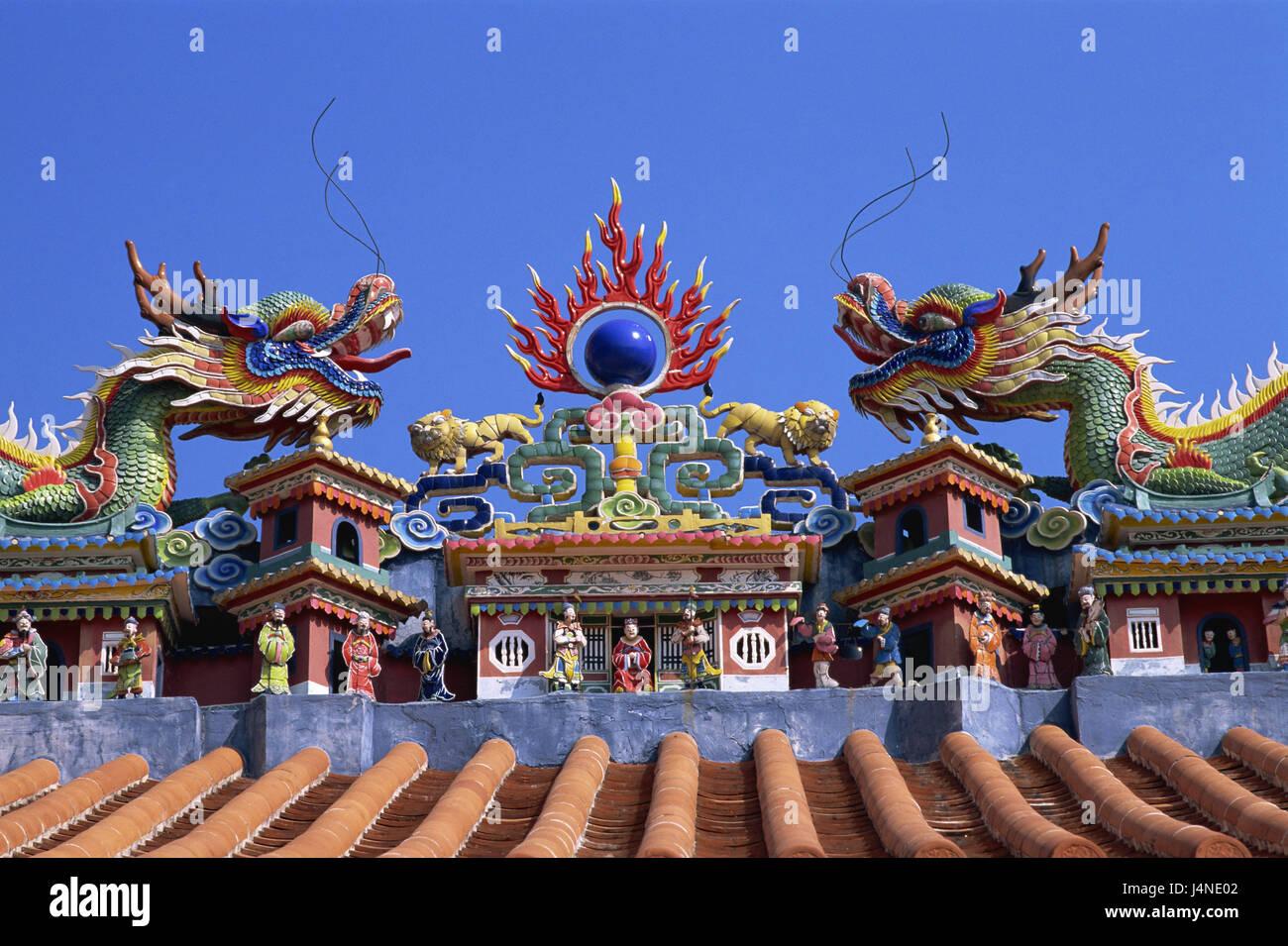 china hong kong cheung chau insel pak tai tempel detail dach drachen asien insel kultur. Black Bedroom Furniture Sets. Home Design Ideas