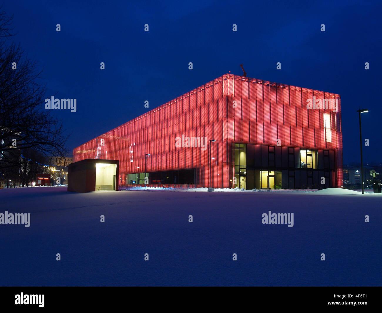 Österreich, Oberösterreich, Linz, Lentos Kunstmuseum, Beleuchtung ...