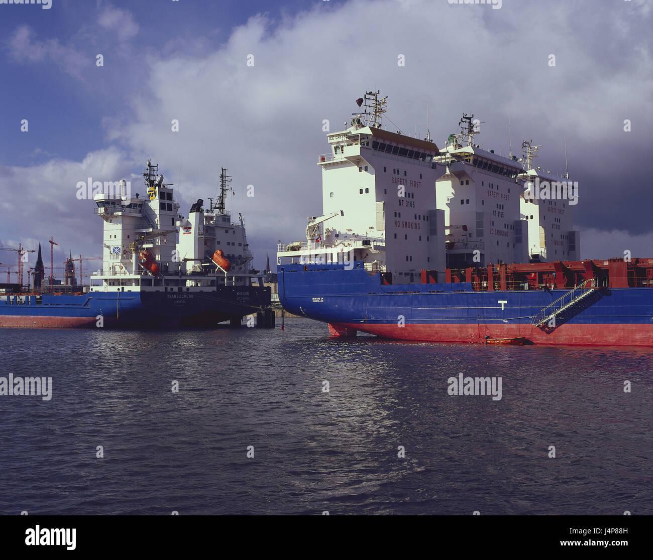 Deutschland Hamburg Containerhafen Frachter Norddeutschland