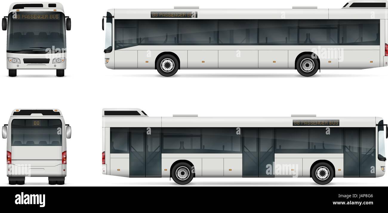 City Bus Vektor Vorlage für Auto, branding und Werbung. Isolierte ...