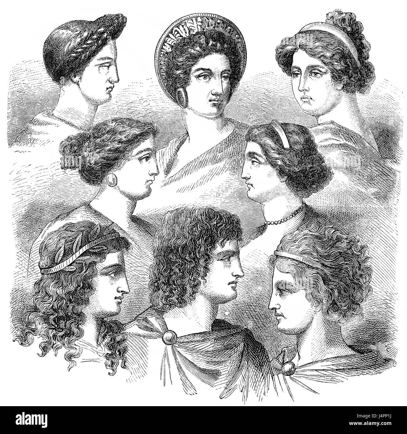 Traditionelle Frisuren Im Antiken Griechenland Stockfoto Bild