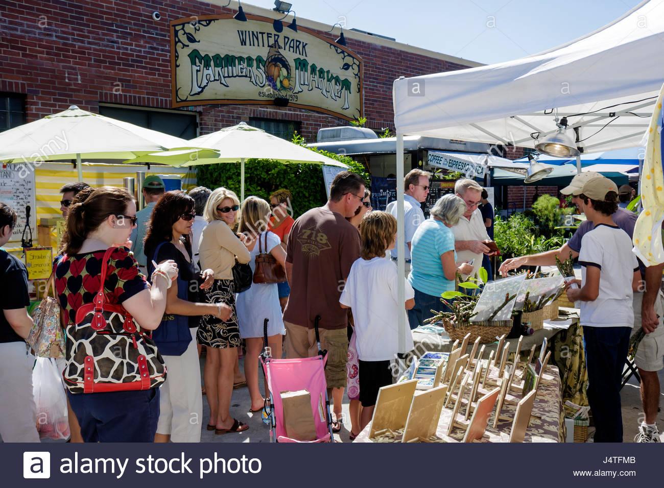 Winterpark Florida Farmer Farmers Market Shopping Anbieter Zelt - Bemalte fliesen kaufen