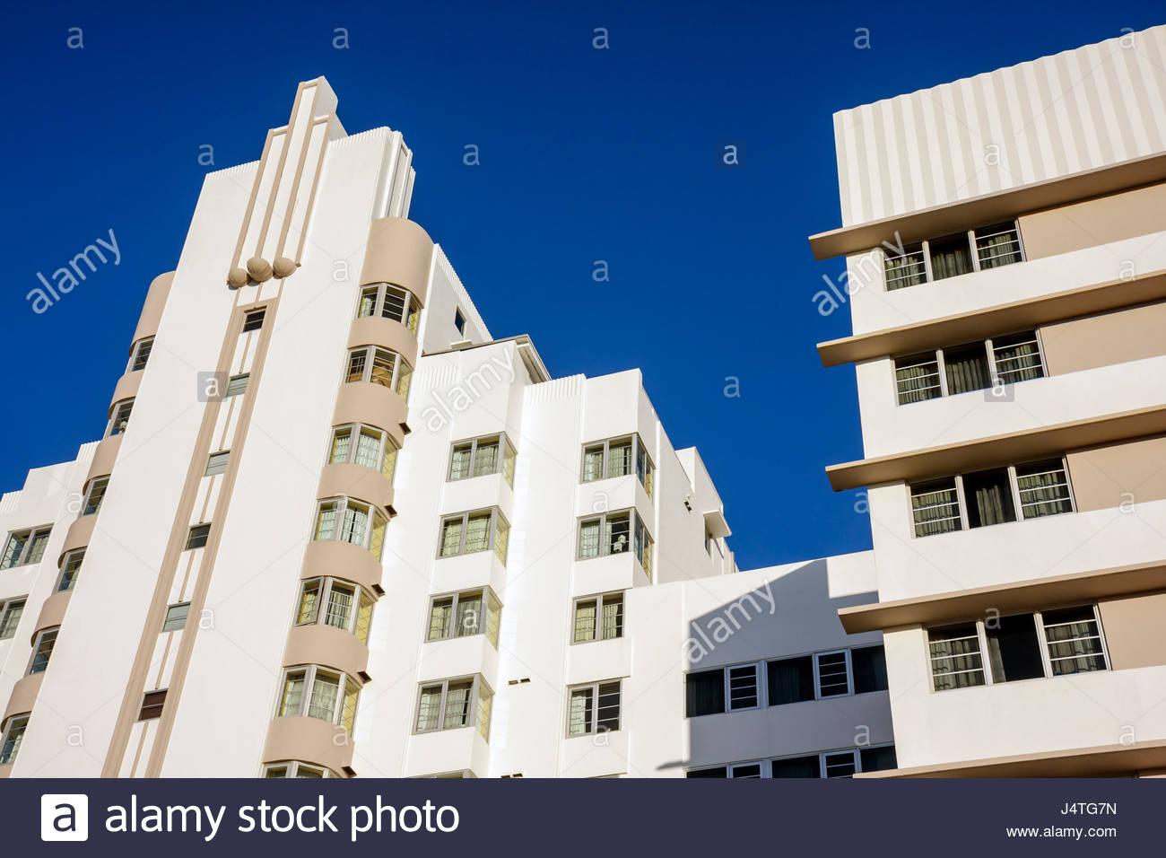 Deco Architektur miami florida collins avenue high rise gebäude deco