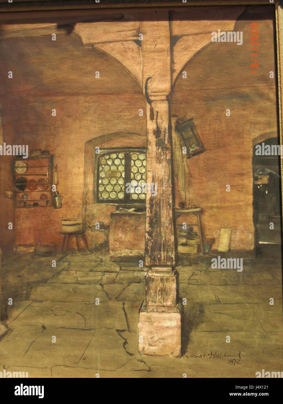 Waschstube, Interieur Stockbild