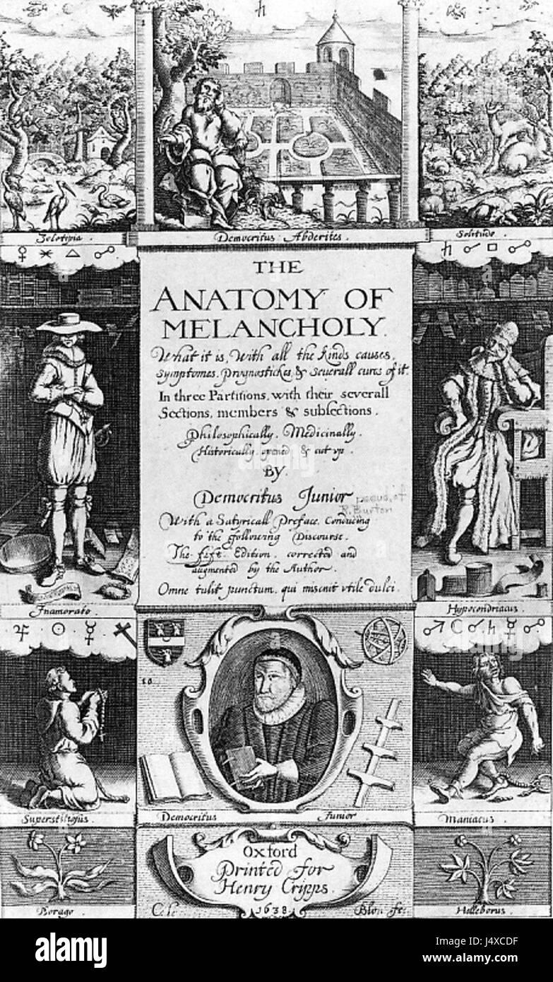 Anatomy Of Melancholy Stockfotos & Anatomy Of Melancholy Bilder - Alamy