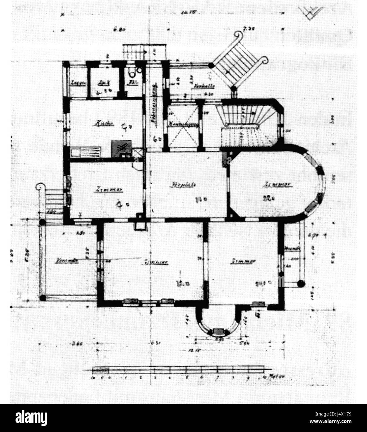 1 Stuttgart Architekten Eisenlohr Und Weigle Grundriss Von 1898 Quelle Annette Schmidt Ludwig Ein Architekt Weg V Historismus Z Moderne