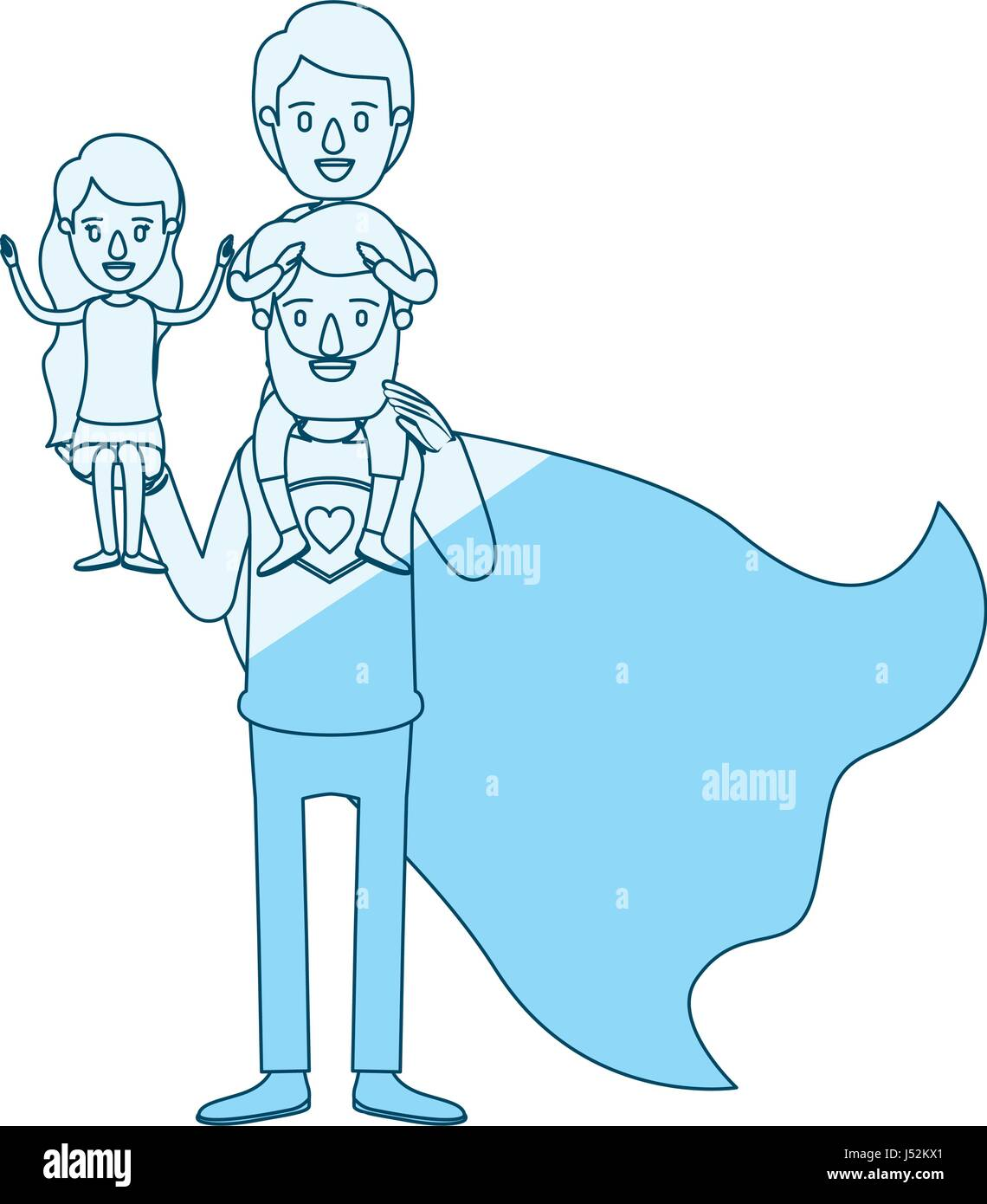 Cartoon Little Boy Superhero Stockfotos & Cartoon Little Boy ...