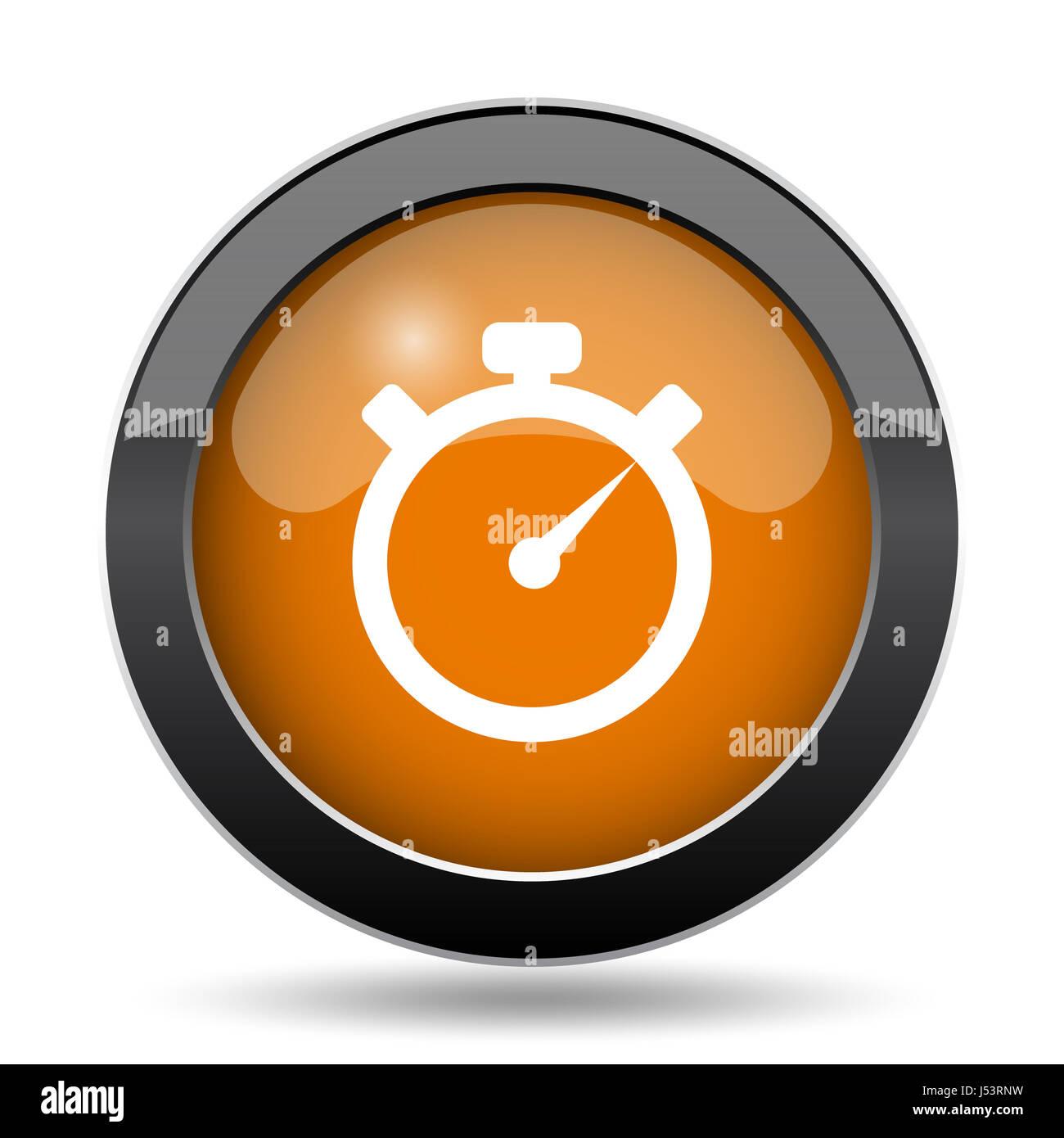 Timer-Symbol. Zeitschaltuhr Webseite auf weißem Hintergrund ...