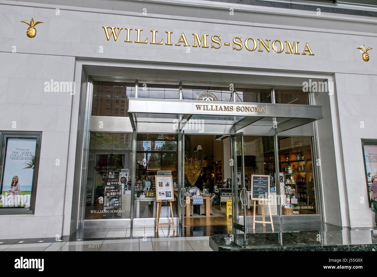 New York 8 Mai 2017 Die Front Eines Williams Sonoma Store Im Time