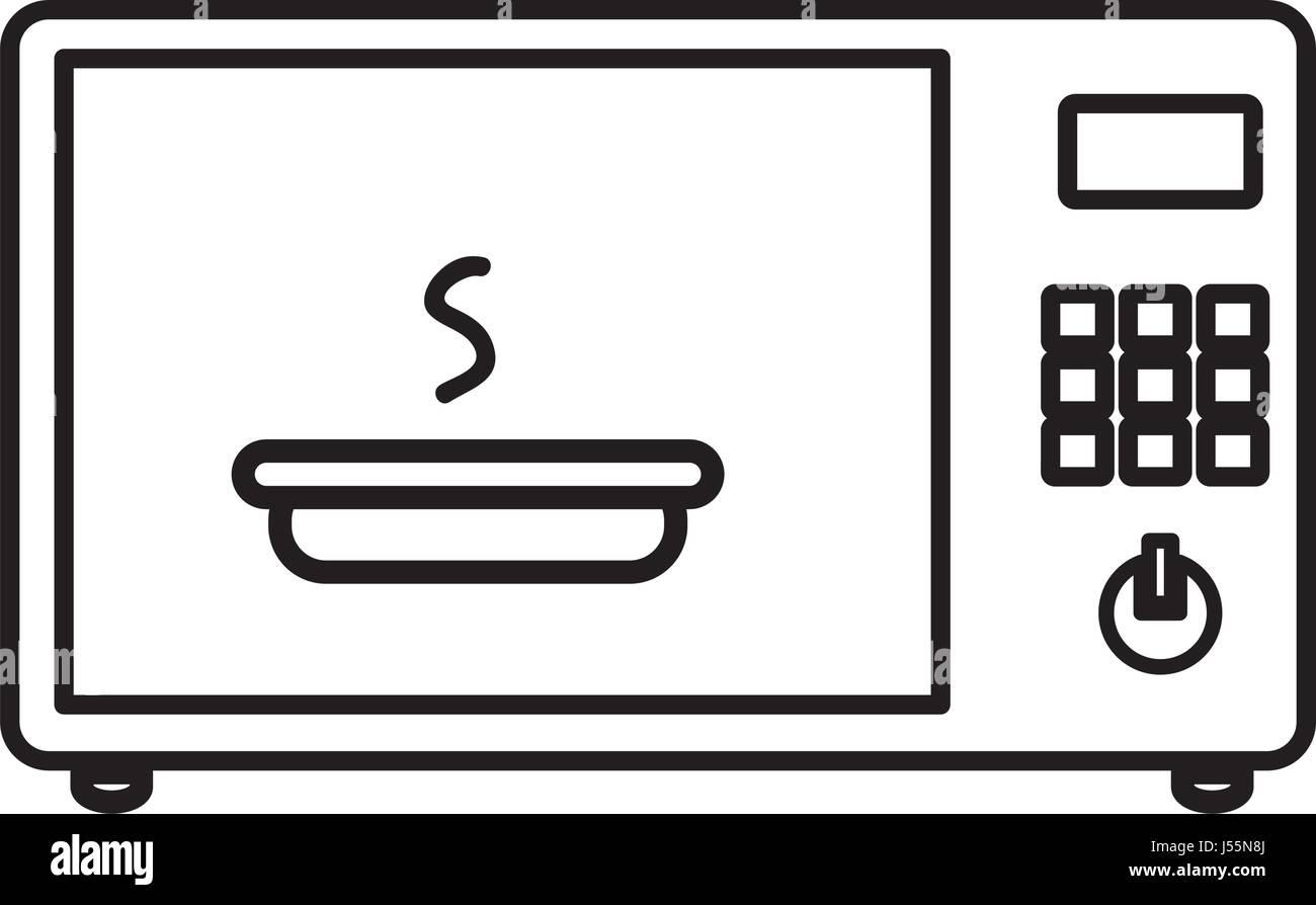 Microwave Oven Icon Kitchen Symbol Stockfotos & Microwave Oven Icon ...