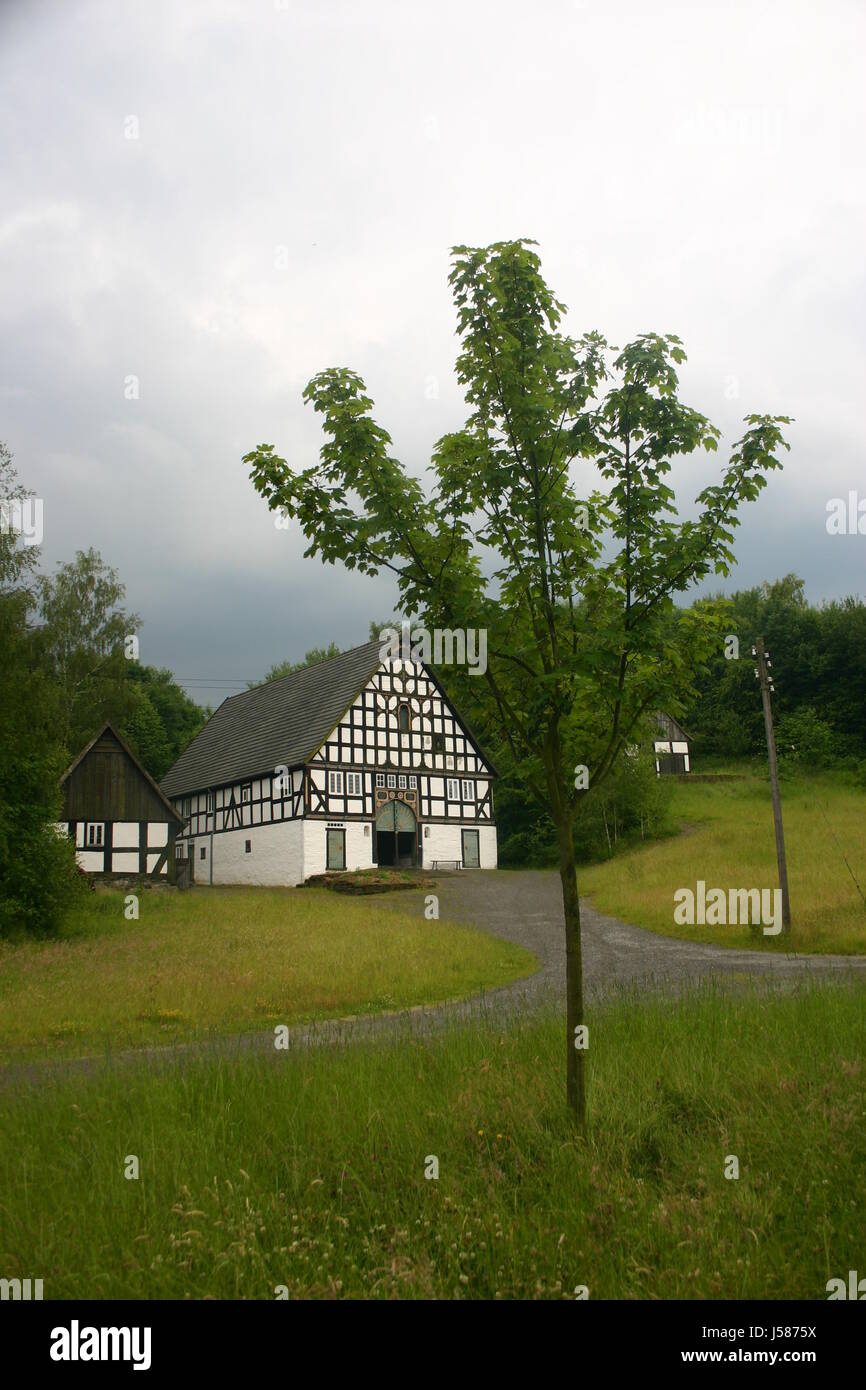Hausbau-Baum Ziel Durchgang Tor Archgway Gantry Rahmenarbeit Hof ...