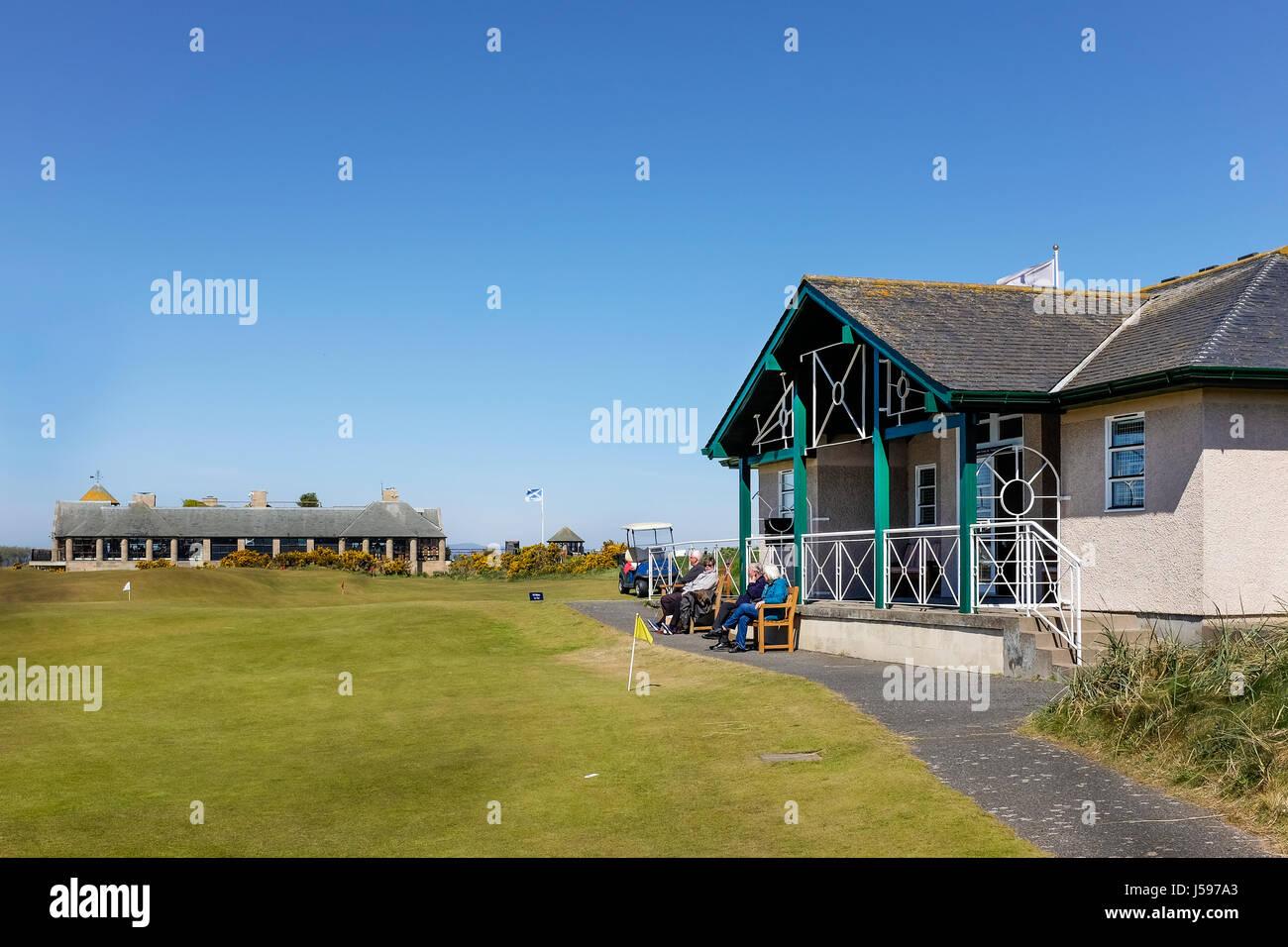Clubhaus für den St Andrews Ladies setzen Club, The Himalaya Course, St Andrews, Fife, Schottland Stockbild