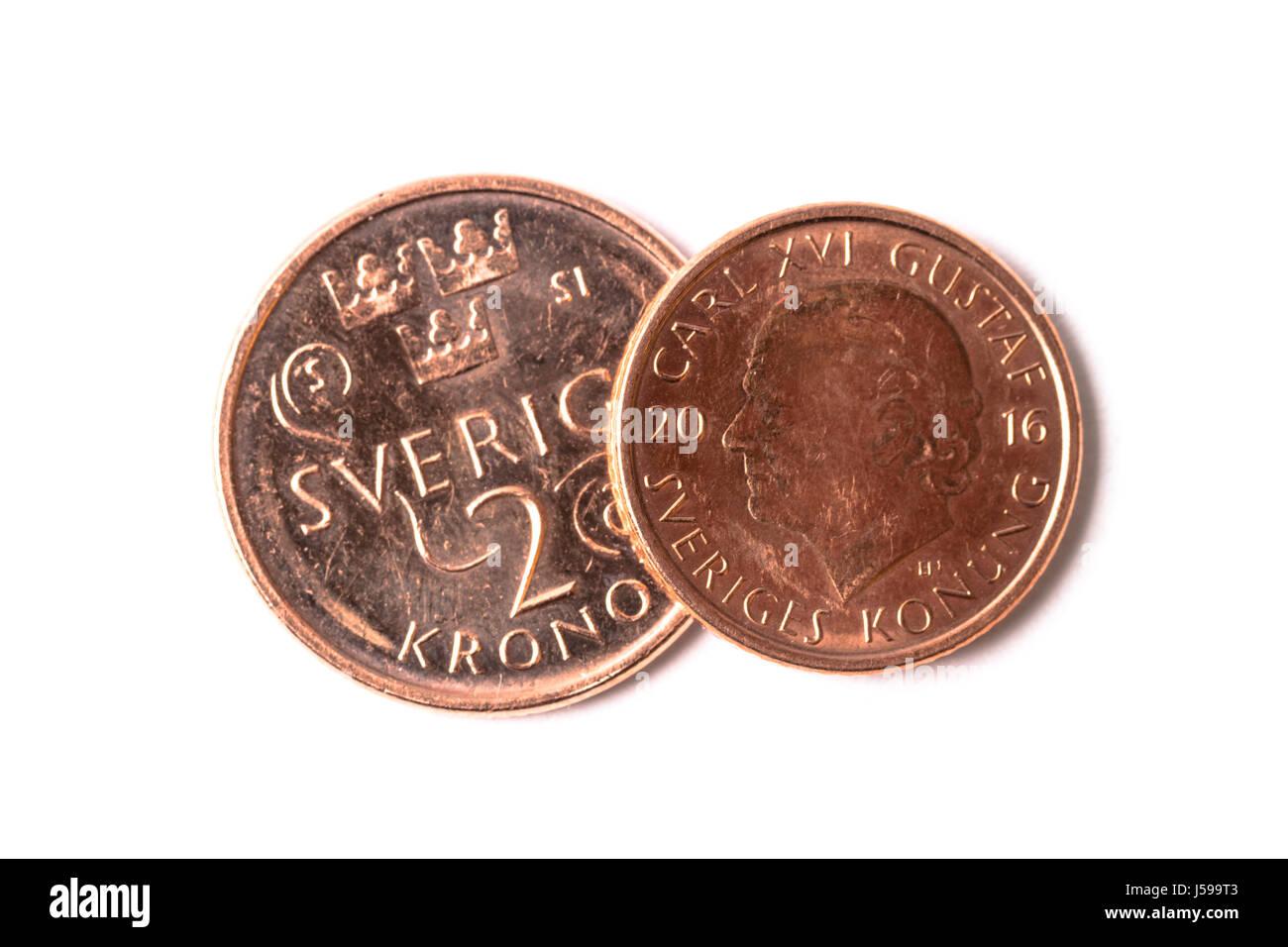 Währung Schwedische Krone Stockfotos Währung Schwedische Krone
