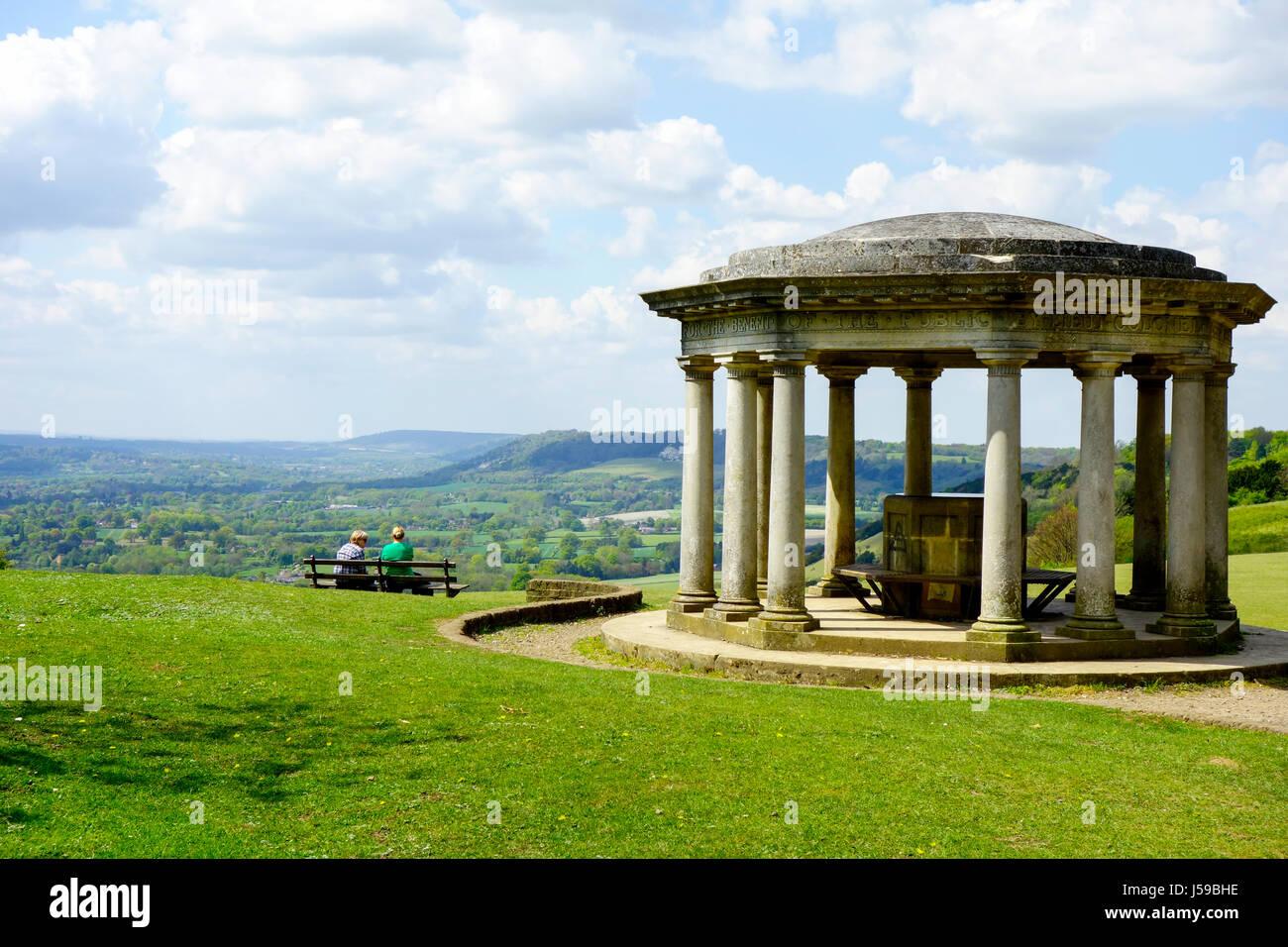 Die Inglis Memorial Pavillion, Reigate Hill, North Downs, Surrey Stockbild
