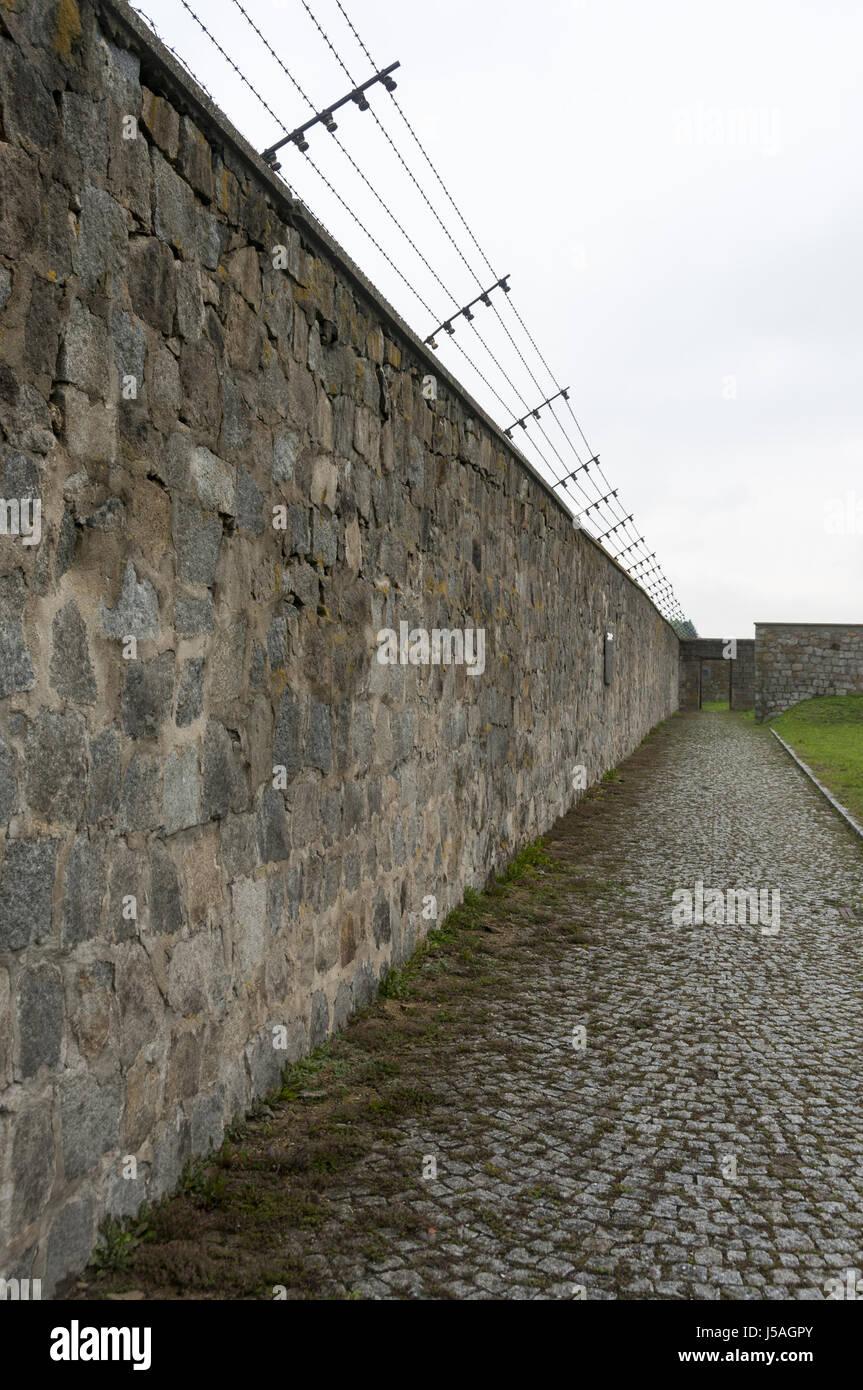 Österreich, Mauthausen, Mauthausen Memorial jüdische KZ befreit von US-Armee im Jahr 1945 Stockbild