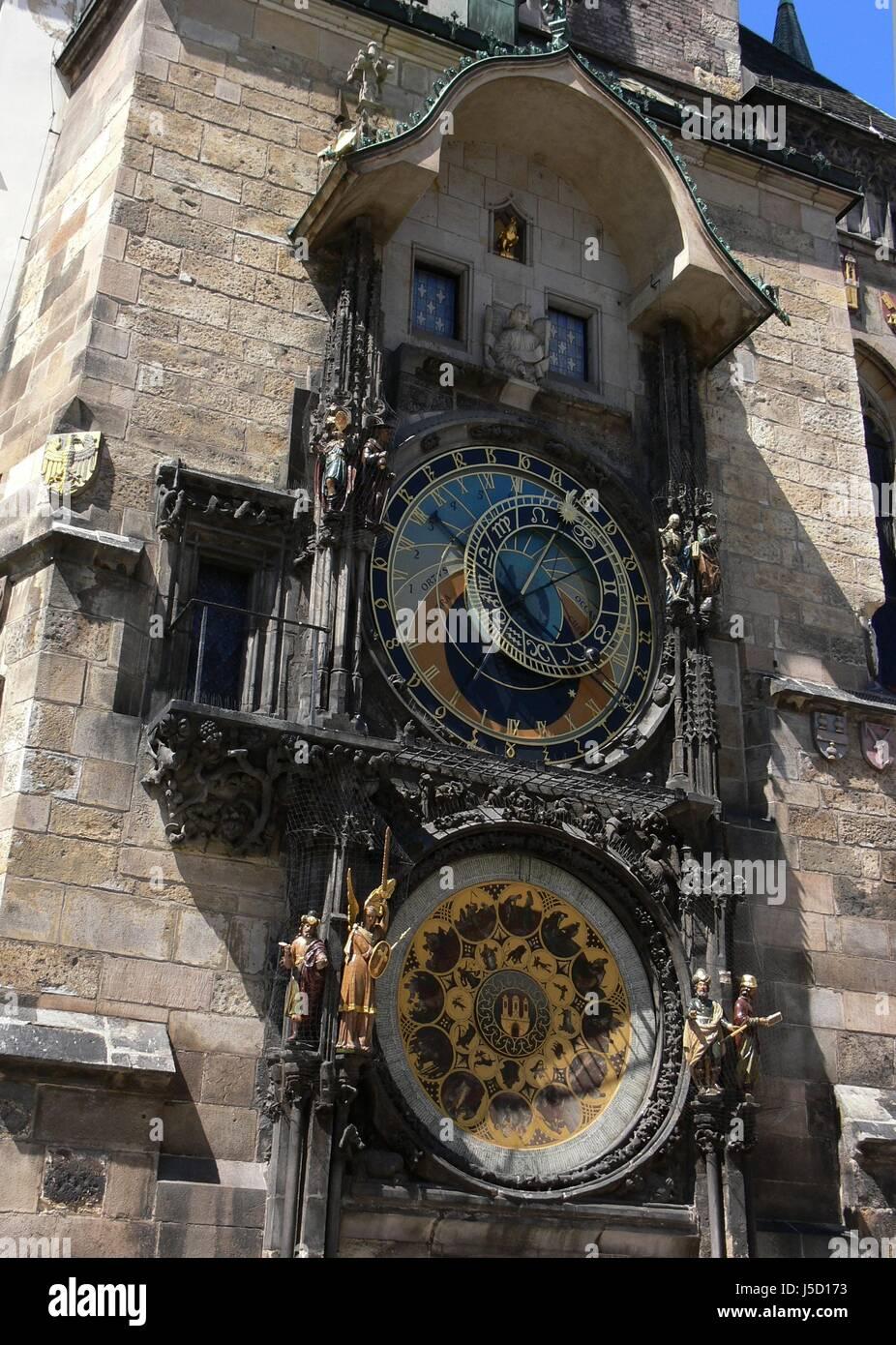 die astronomische Uhr von Prag Stockbild