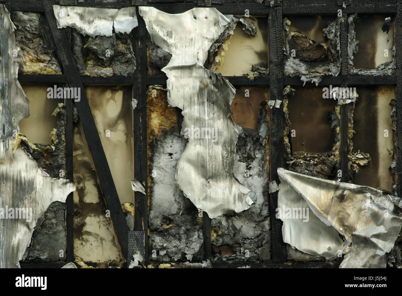 Untergang Rahmenarbeit düsteren Asche Ruine Feuer Großbrand Ende ...