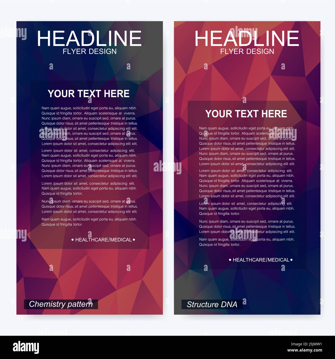 Elegant Brochure Template Design Triangle Stockfotos & Elegant ...