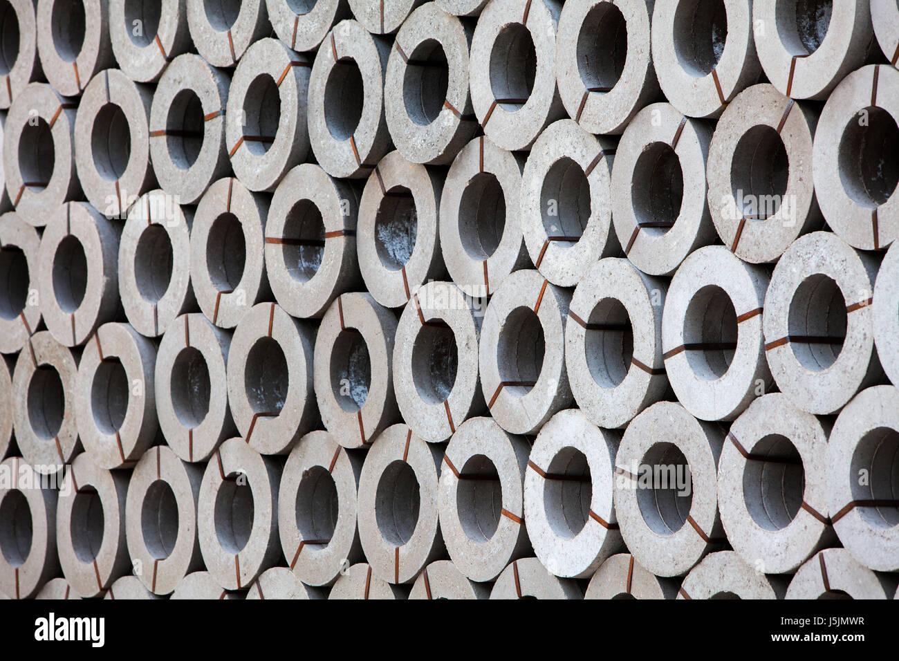 Betonrohre, Deutschland Stockbild