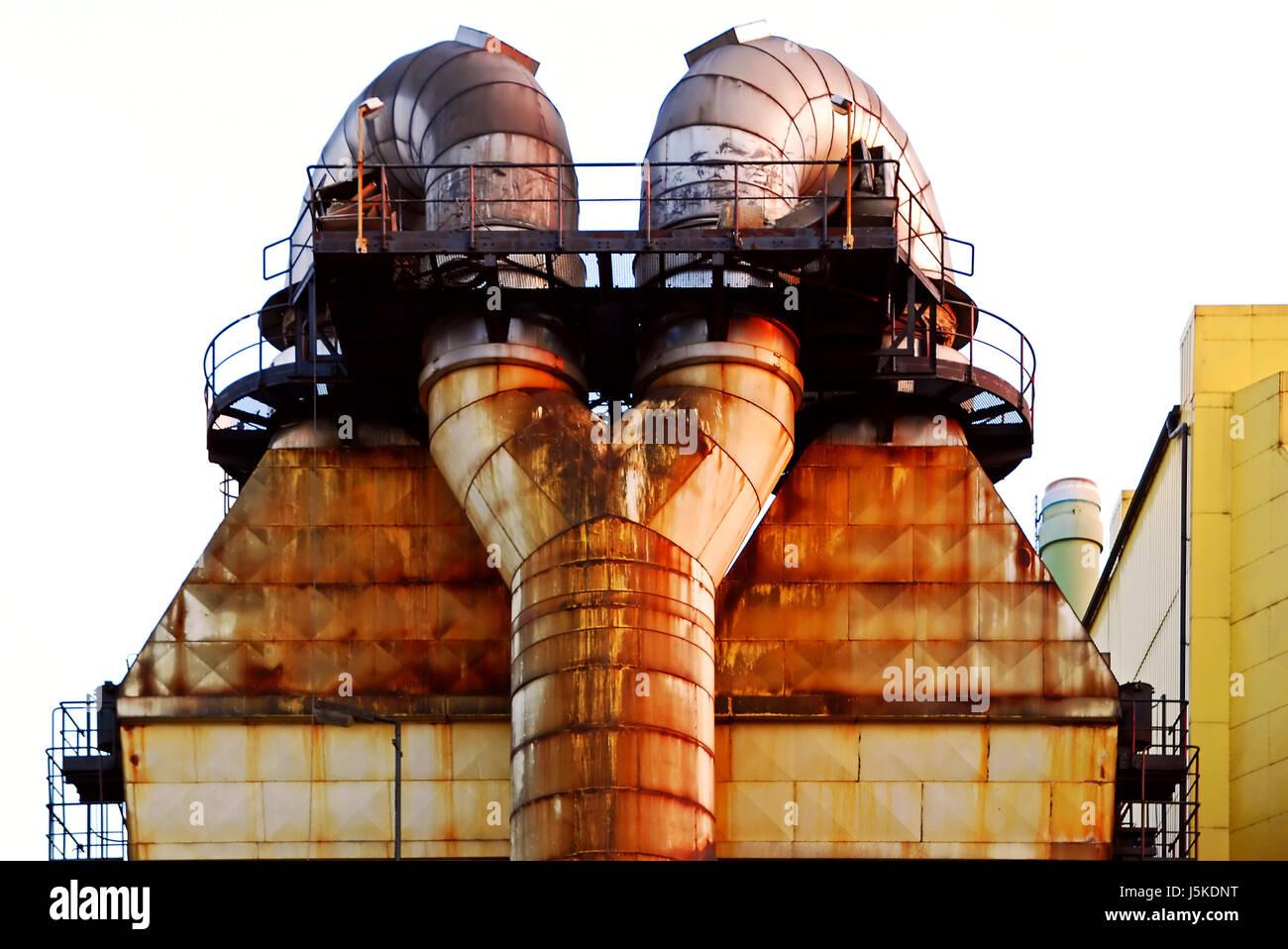 Industrie Industrieanlage Werk hochwertige Stahl Stahl Kessel ...
