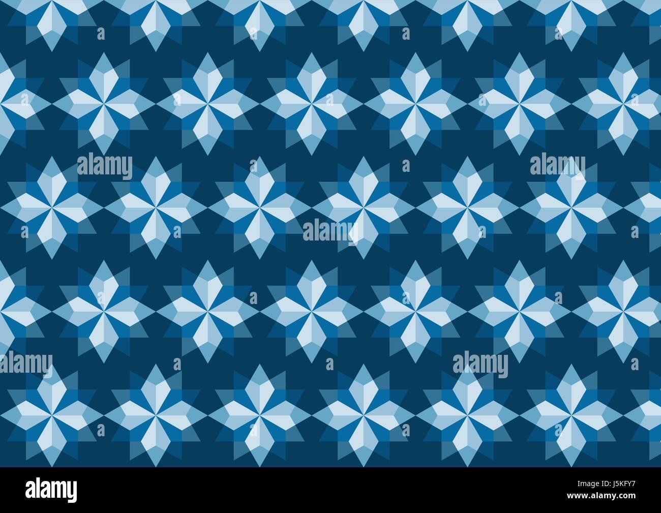 Moderne Rhomboid oder Stern-Muster in abstrakte Funktion auf blaue ...
