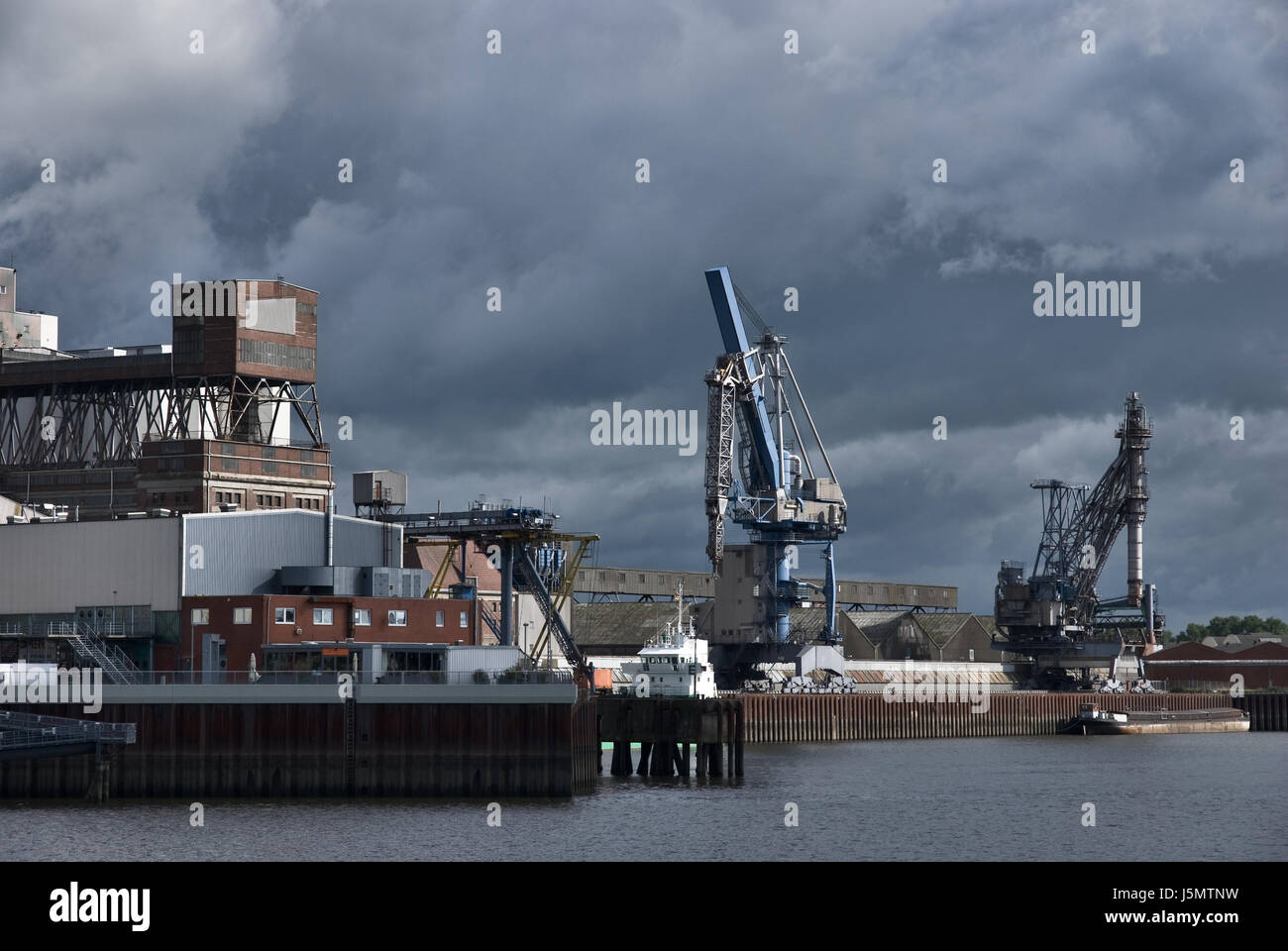 Marine Hafen Häfen Waren Depot Bremen Deutschland Bundesrepublik