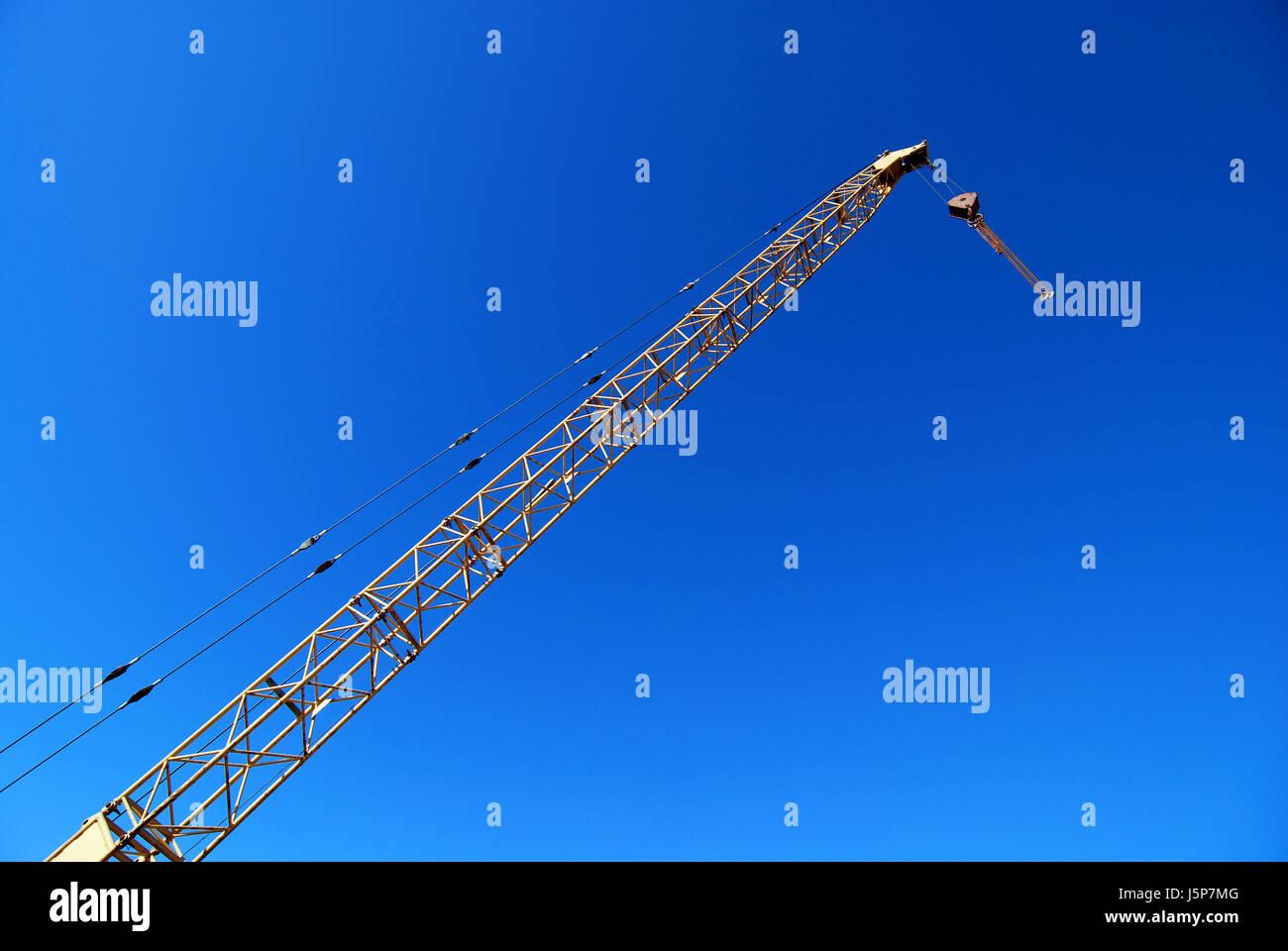 Blauer Stahl Metall-Haken Stahl Kabel Halterung heben Aufzug Schiff ...